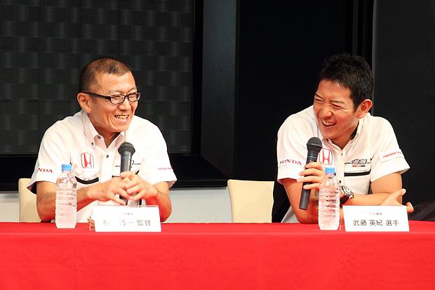 熊倉監督と武藤選手