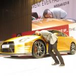 ウサイン ボルトはGT-Rも金! ゴールドNISSAN GT-Rはオークションに出品!! - BOLT GOLD GT-R