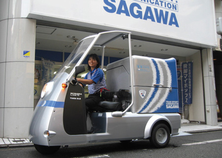 佐川急便の3輪EV