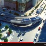 渋滞中の自動車をまたいで走る近未来型バスが登場 !【動画】 - ランドエアバス