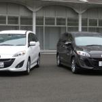 日本車の走りに味がない原因がわかった! - プレマシースカイアクティブ(右)とMC前