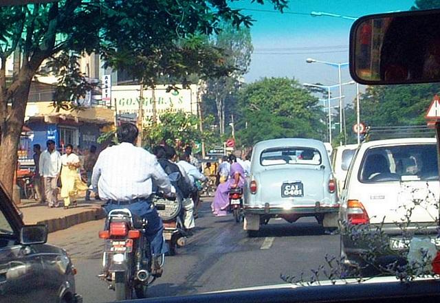 インドの交通状況(2001年)
