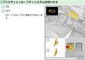 レクサス IS PCSカットオフ