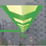 ついに楽ナビもHUD(ヘッドアップディスプレー)対応に【CEATEC JAPAN 2013】 - H16_HUDマップモード2