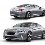 新型レガシィ、コンセプトで登場【ロスアンゼルスオートショー2013】 - Legacy Concept front and rear