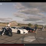 4駆vs2輪vs1駆!? アヴェンタドール、ヴェイロン、BMW S1000RRが勝負!【動画】 - 2Cars_1Bike_Race_01