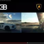 4駆vs2輪vs1駆!? アヴェンタドール、ヴェイロン、BMW S1000RRが勝負!【動画】 - 2Cars_1Bike_Race_02
