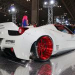 【東京国際カスタムカーコンテスト2014】インポートカー部門最優秀賞はセクシーヒップのフェラーリ458! - c21