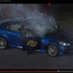 米レースでオフィシャル車からまさかの出火!【動画】 - Pacecar_Fire_02