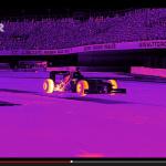 F1のタイヤ温度が目で見えた! 赤外線撮影の映像が衝撃的【動画】 - Flir_Redbull_01