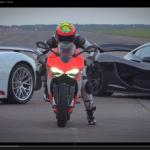 ドゥカティ1199とマクラーレンP1、ポルシェ918、速いのは?【動画】 - Supercar_vs_Superbike01