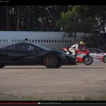 ドゥカティ1199とマクラーレンP1、ポルシェ918、速いのは?【動画】 - Supercar_vs_Superbike02