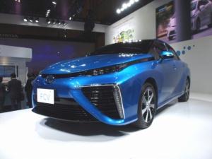 トヨタがCEATEC JAPAN 2014で展示した燃料電池車