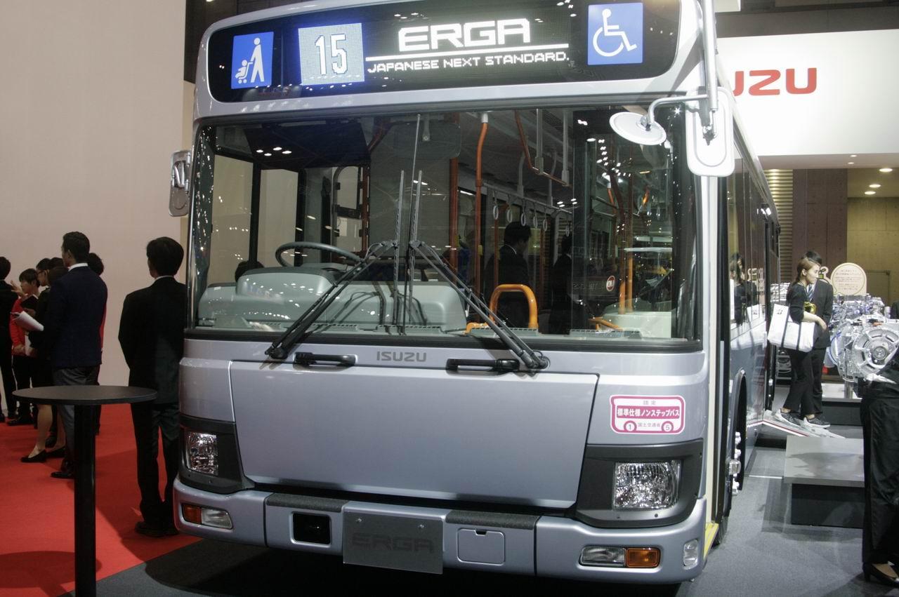 「【東京モーターショー15】いすゞは、持続可能な大型トラックへ天然ガス車を提案」の5枚目の画像