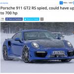 打倒GT-R NISMO!? 991型GT2RSのテストカーが北欧の寒さに負けずにテスト中! - RES_991GT2RS-1
