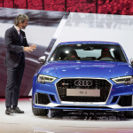 Stephan Winkelmann (CEO quattro GmbH) in front of the new Audi R