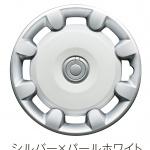 キャンバスのデザインは「陶器の輝き」─ ダイハツ・デザインの新ジャンルをインタビュー(後編) - 14インチ2トーンカラードフルホイールキャップ(ホワイト)