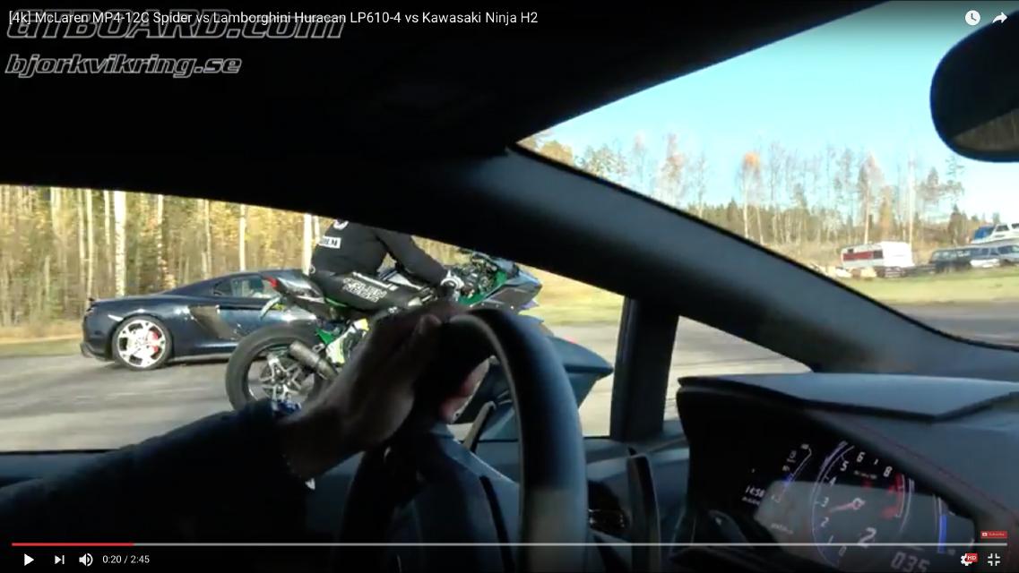 「勝負は一瞬でついた!? スーパーカー2台とバイクが加速対決【動画】」の2枚目の画像