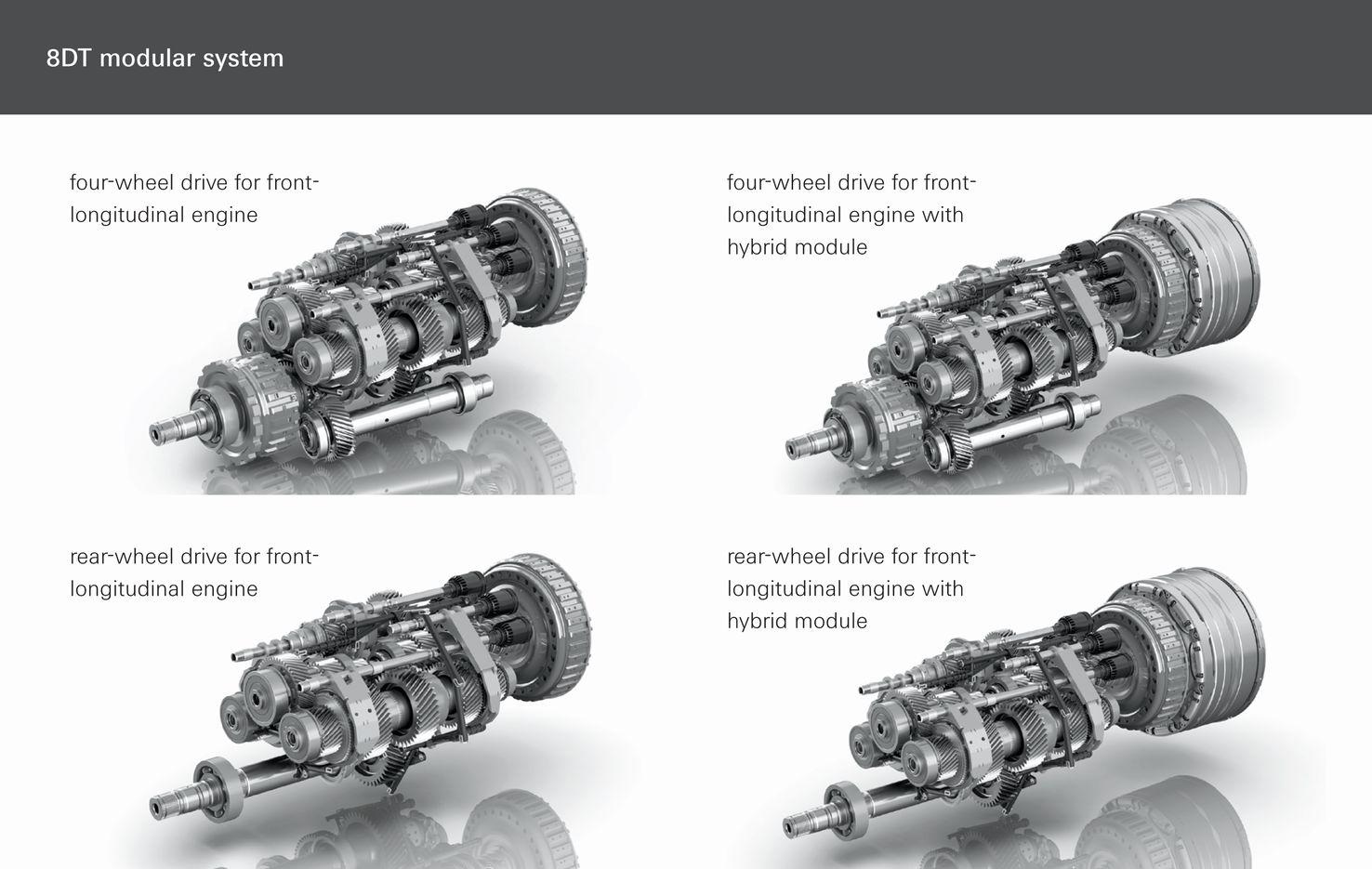 Zf、ポルシェ用の8速デュアルクラッチ・トランスミッションに統合ハイブリッド・モジュールを追加 Clicccar