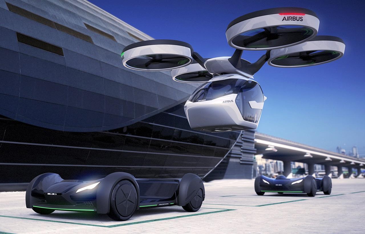 「まるでクルマのタケコプター!? 空飛ぶドローンEV、イタルデザインとエアバス社「Pop.Up」公開【ジュネーブモーターショー2017】」の2枚目の画像