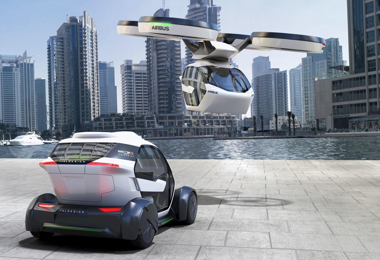 「まるでクルマのタケコプター!? 空飛ぶドローンEV、イタルデザインとエアバス社「Pop.Up」公開【ジュネーブモーターショー2017】」の5枚目の画像