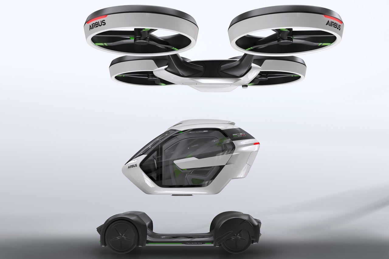 「まるでクルマのタケコプター!? 空飛ぶドローンEV、イタルデザインとエアバス社「Pop.Up」公開【ジュネーブモーターショー2017】」の6枚目の画像