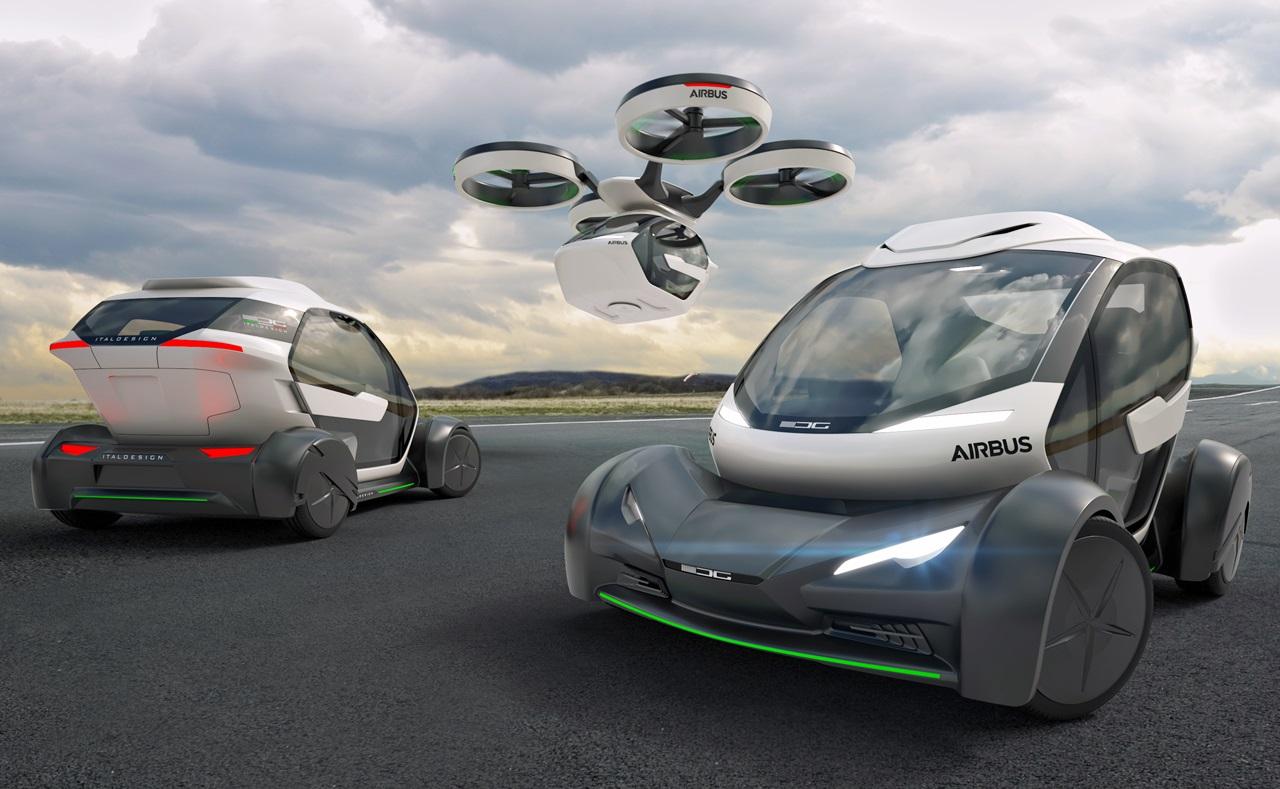 「まるでクルマのタケコプター!? 空飛ぶドローンEV、イタルデザインとエアバス社「Pop.Up」公開【ジュネーブモーターショー2017】」の7枚目の画像