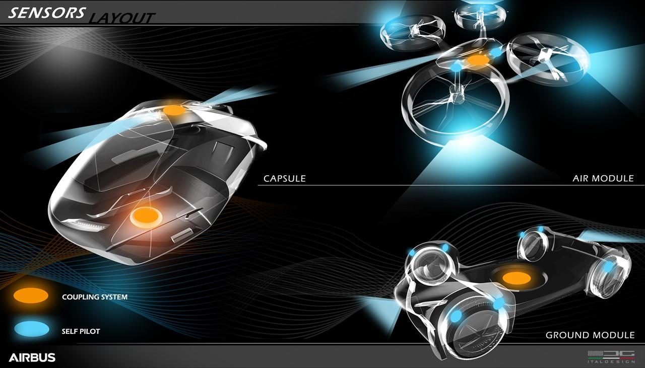 「まるでクルマのタケコプター!? 空飛ぶドローンEV、イタルデザインとエアバス社「Pop.Up」公開【ジュネーブモーターショー2017】」の24枚目の画像