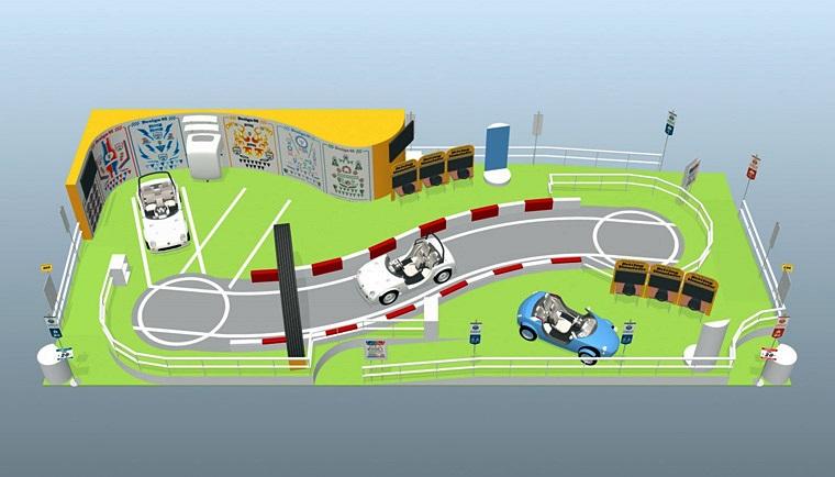 自分好みにデコレーションできる 「カマッテ」を使った子供自動車学校をトヨタが開講!【東京おもちゃショー2017