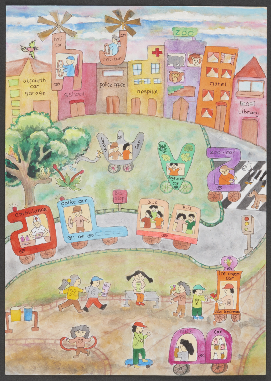 「こどもたちの作品から見えてくる未来は? 第12回トヨタ夢のクルマアートコンテスト」の2枚目の画像