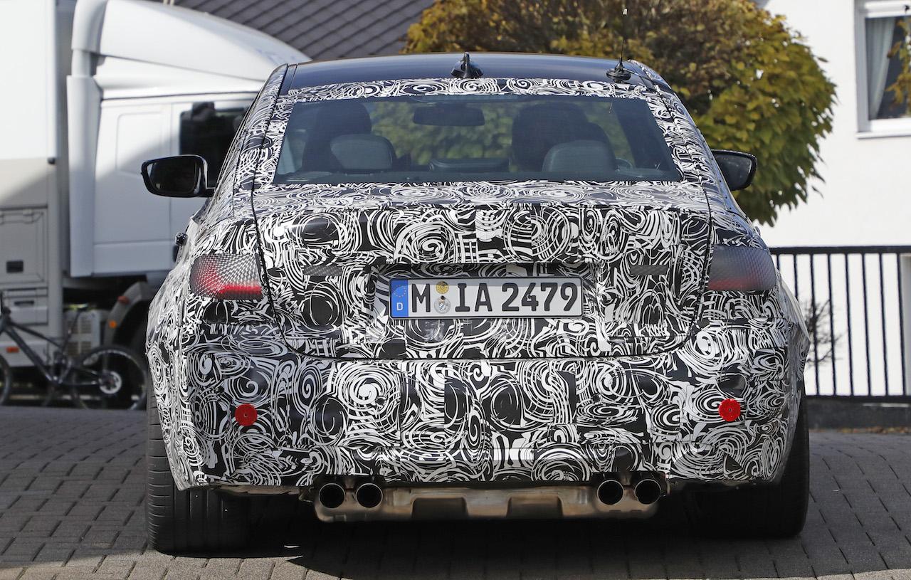 「新型BMW・M3市販型プロトタイプをついにスクープ!最高出力は500馬力へ」の10枚目の画像