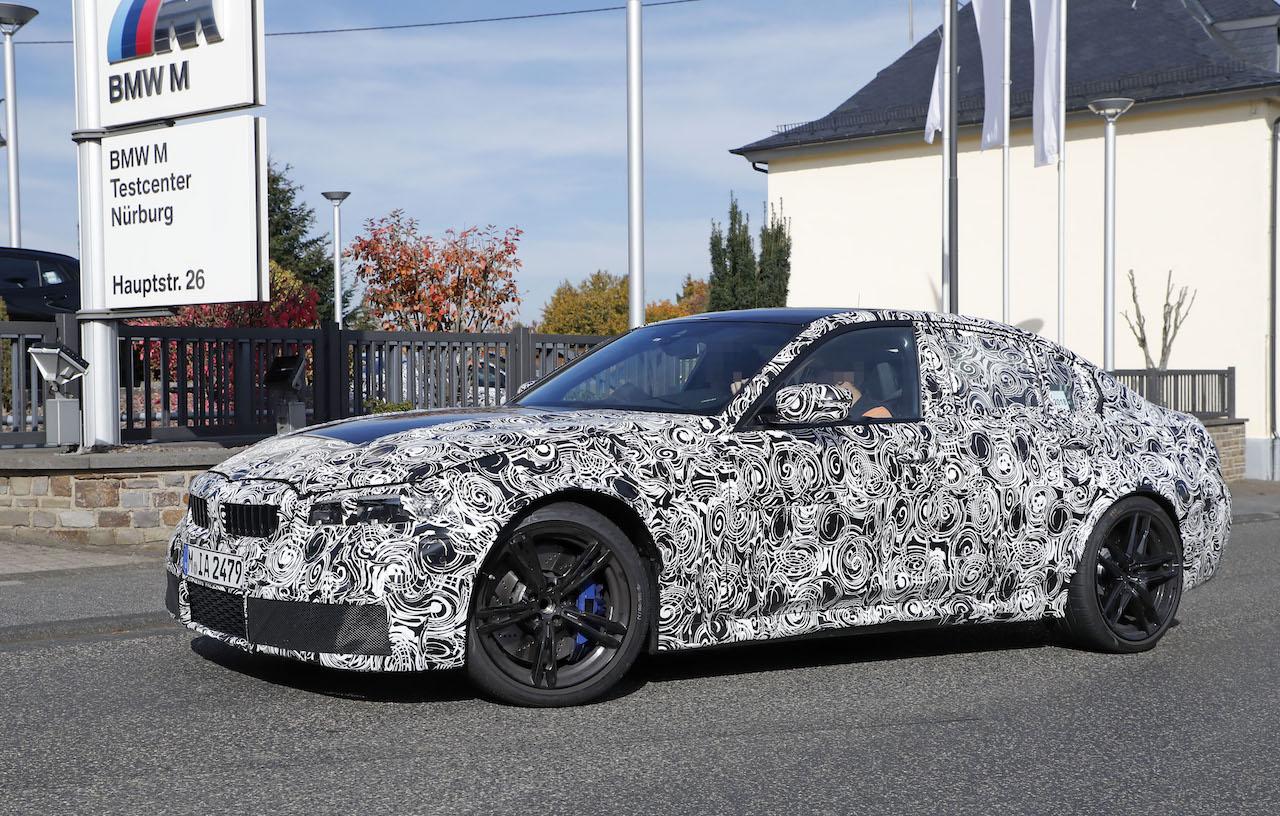 「新型BMW・M3市販型プロトタイプをついにスクープ!最高出力は500馬力へ」の3枚目の画像