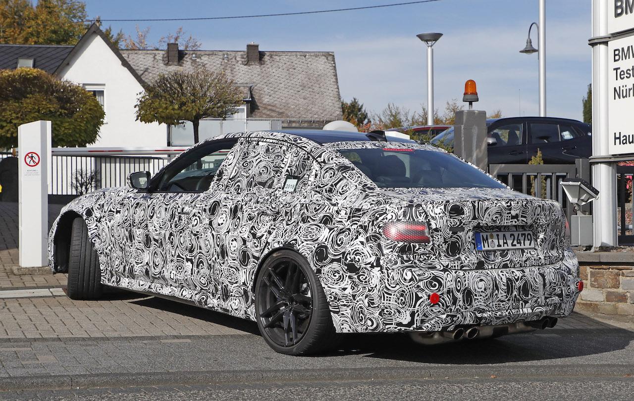 「新型BMW・M3市販型プロトタイプをついにスクープ!最高出力は500馬力へ」の6枚目の画像