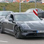 ポルシェ初のEV「タイカン」の開発が急ピッチで進む。市販型パーツを装着したプロトタイプをキャッチ! - Porsche Taycan 5