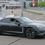 ポルシェ初のEV「タイカン」の開発が急ピッチで進む。市販型パーツを装着したプロトタイプをキャッチ! - Porsche Taycan 8