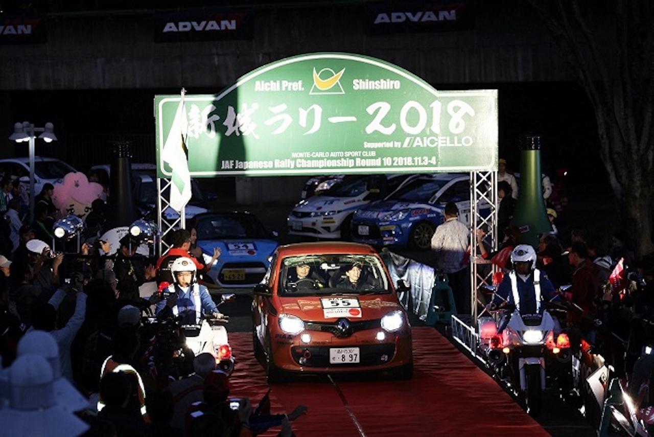 「ルノー・トゥインゴGTが全日本ラリー選手権の最終戦「新城ラリー2018」に初参戦」の2枚目の画像