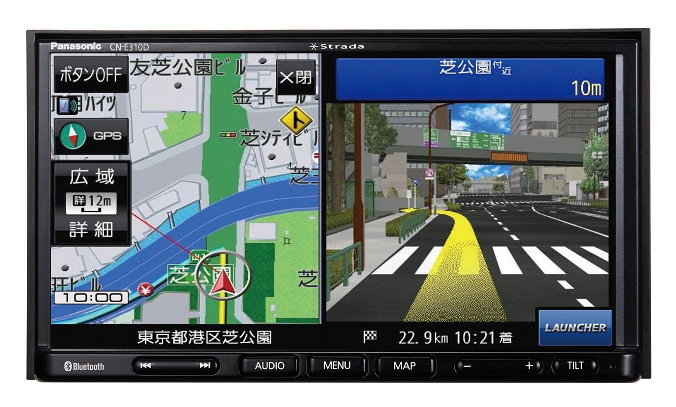 「パナソニック「ストラーダ」のベーシックモデル・SSDカーナビステーション 「CN-E310D」が2019年1月中旬に発売」の1枚目の画像