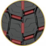 トラック・バスの駆動軸専用タイヤ「MICHELIN X Multi D+」が新発売 - MICHELIN X Multi D ブロック間にブリッジ配置