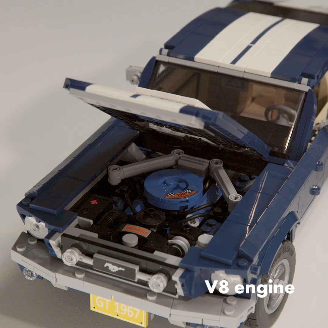 「これがレゴ? 爆走仕様にカスタムできるマスタングが世界で話題に」の9枚目の画像