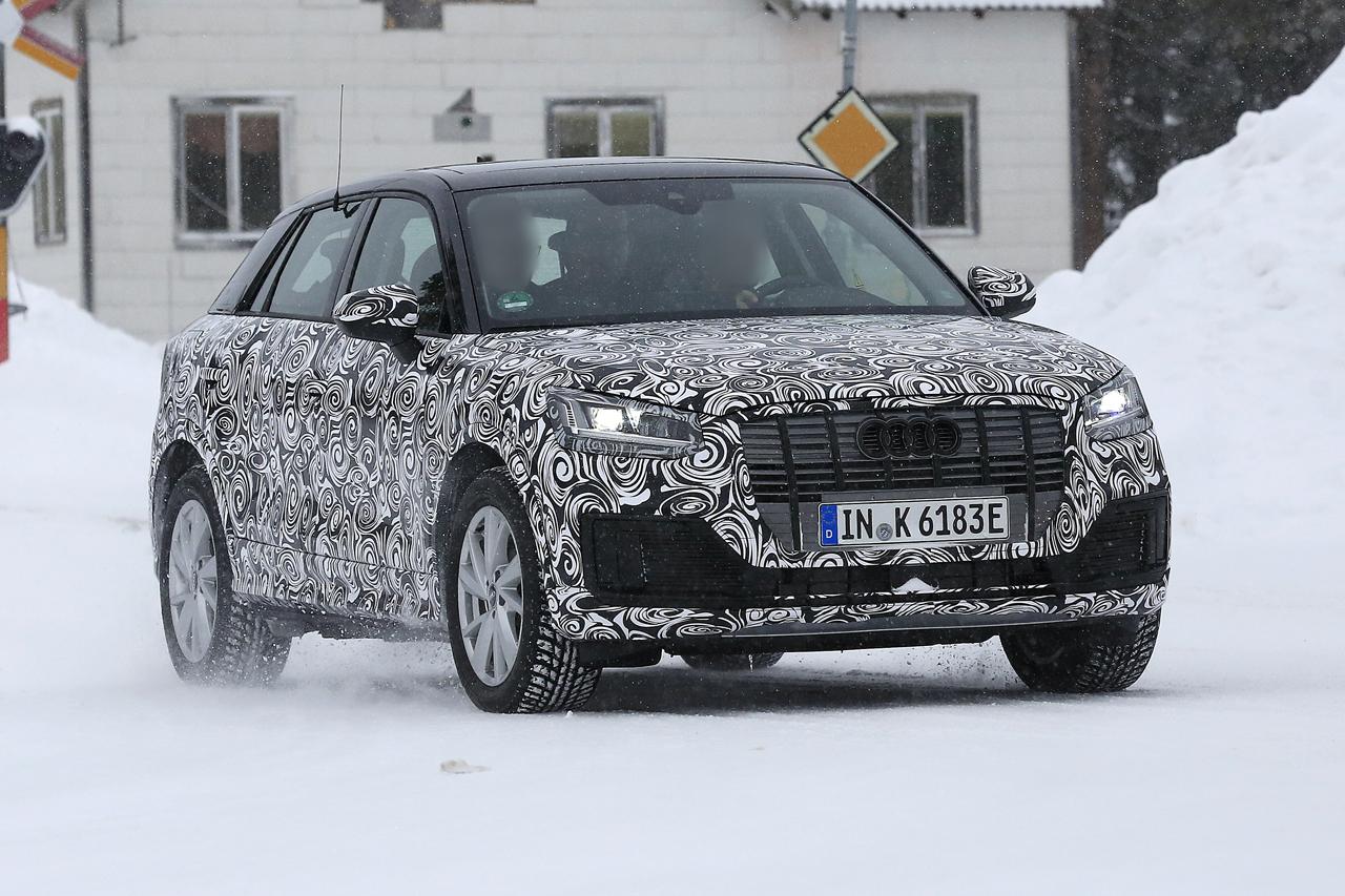 「「Audi Q2 e-tron」アウディ最小SUVもEV化へ…市販型プロトタイプ発見、上海モーターショーで発表か?」の2枚目の画像