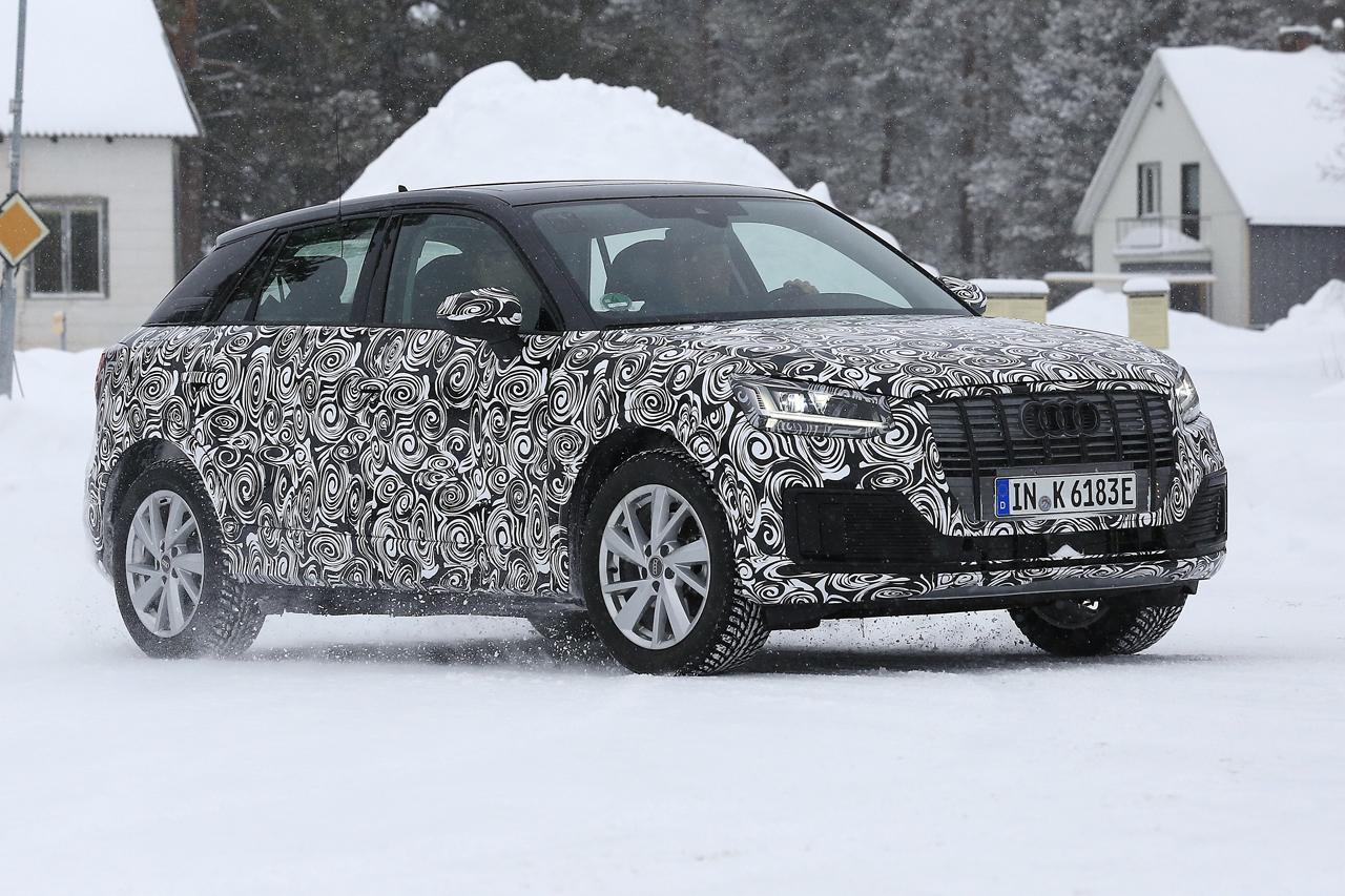 「「Audi Q2 e-tron」アウディ最小SUVもEV化へ…市販型プロトタイプ発見、上海モーターショーで発表か?」の3枚目の画像