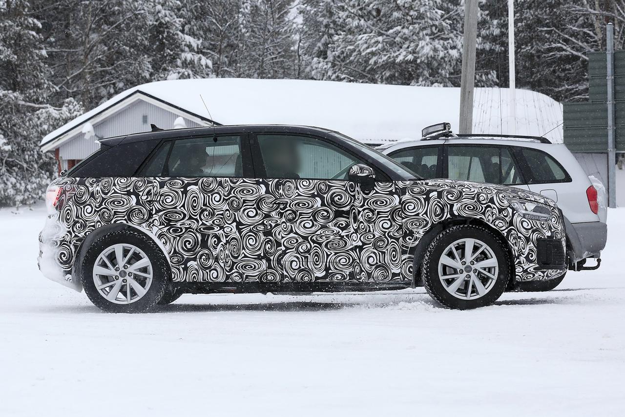 「「Audi Q2 e-tron」アウディ最小SUVもEV化へ…市販型プロトタイプ発見、上海モーターショーで発表か?」の5枚目の画像