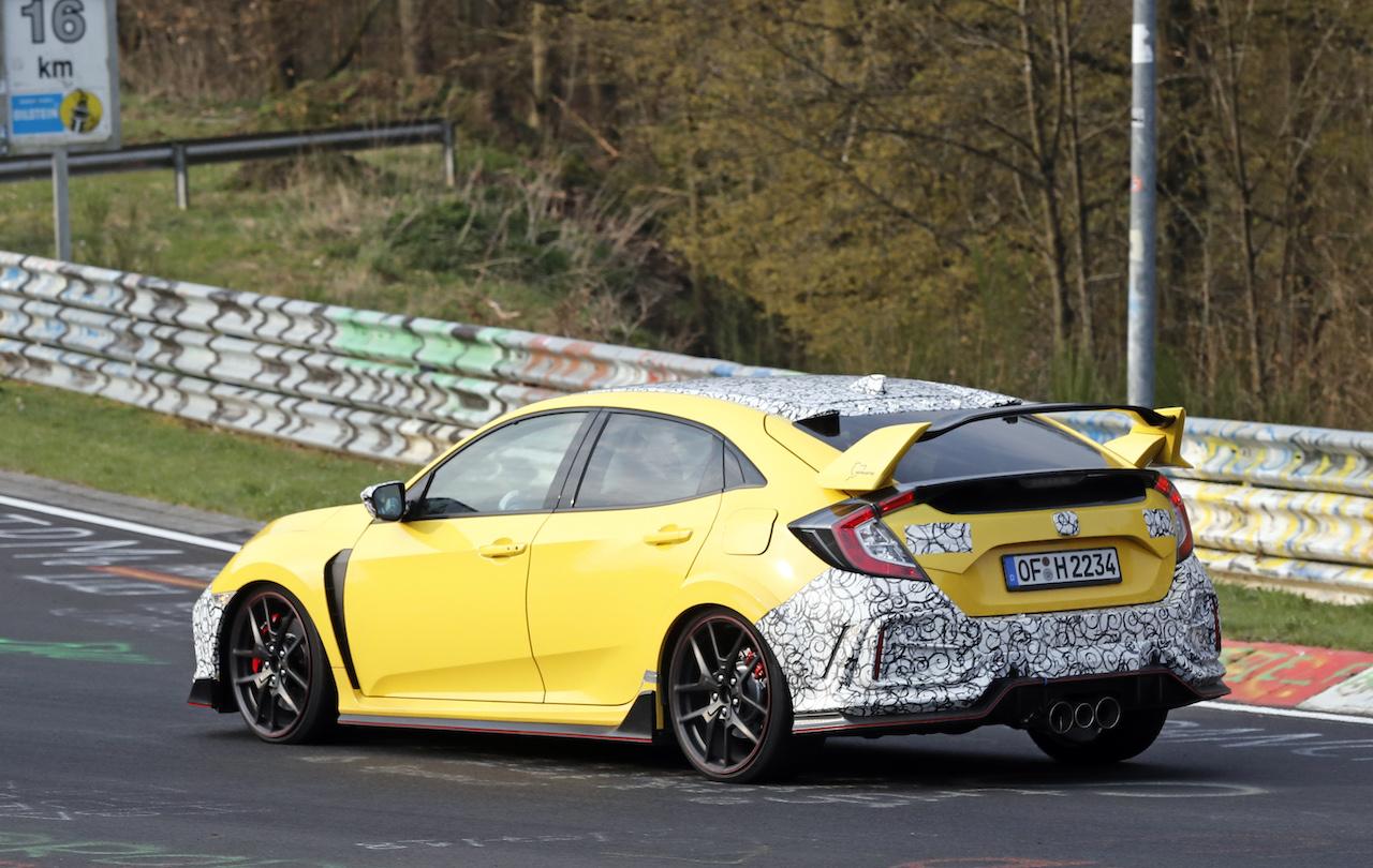 Honda Civic Type R facelift 21 画像 シビック・タイプRにカーボンエクステリアを採用し ...