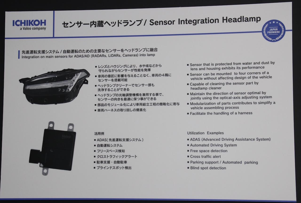 「先進運転支援システム・自動運転の主要センサーをヘッドランプに融合させた市光工業【人とくるまのテクノロジー展2019 横浜】」の4枚目の画像