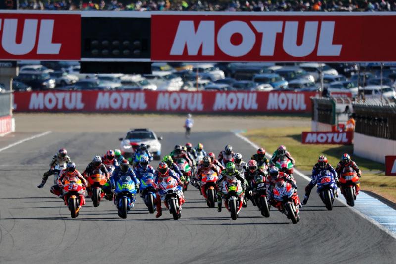 MotoGPスタートシーン