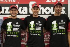 カワサキワークスチームの優勝記念Tシャツ