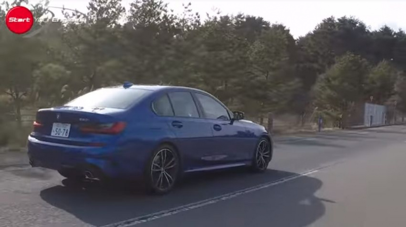 BMW330i Mスポーツのリヤスタイル