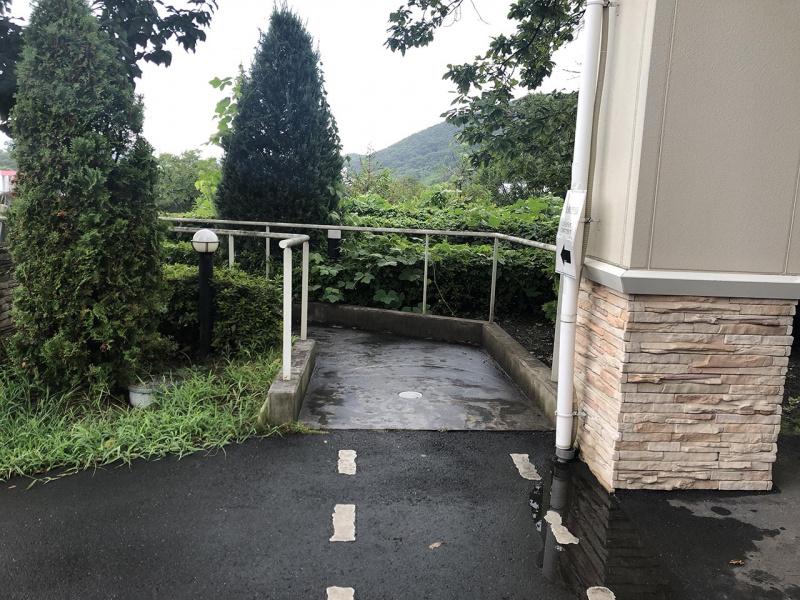 佐野サービスエリア(上り)の階段入り口