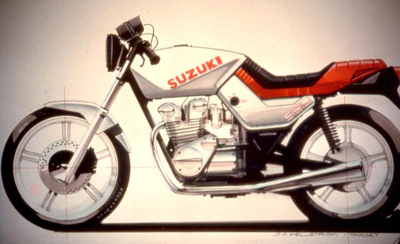 スズキGS650Gのデザインスケッチ