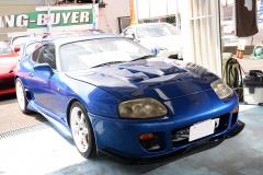 80スープラの中古車・青色